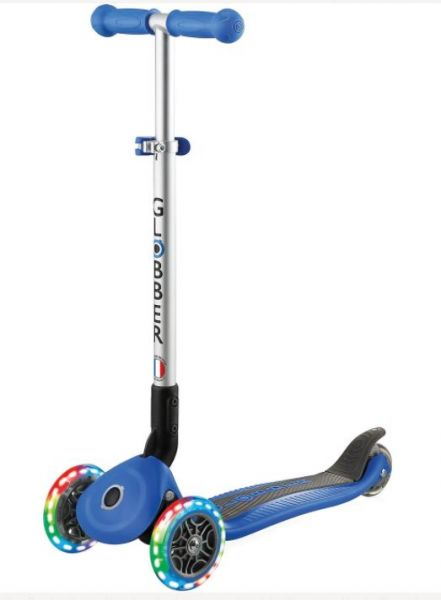 Authentic Globber PRIMO FOLDABLE navi-blau Leuchtroller Scooter