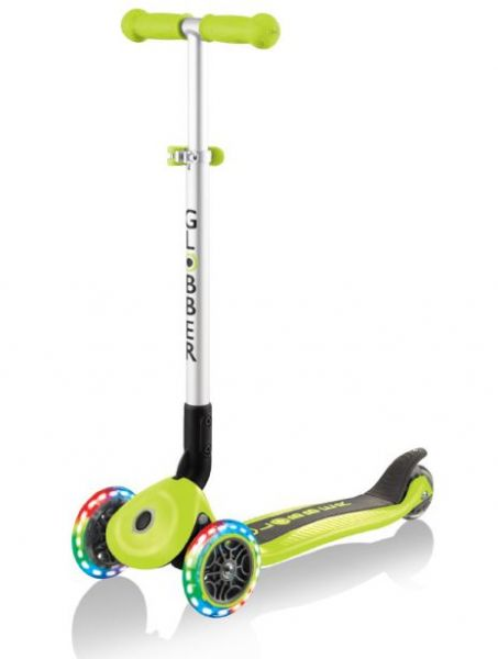 Authentic Globber PRIMO FOLDABLE grün Leuchtroller Scooter