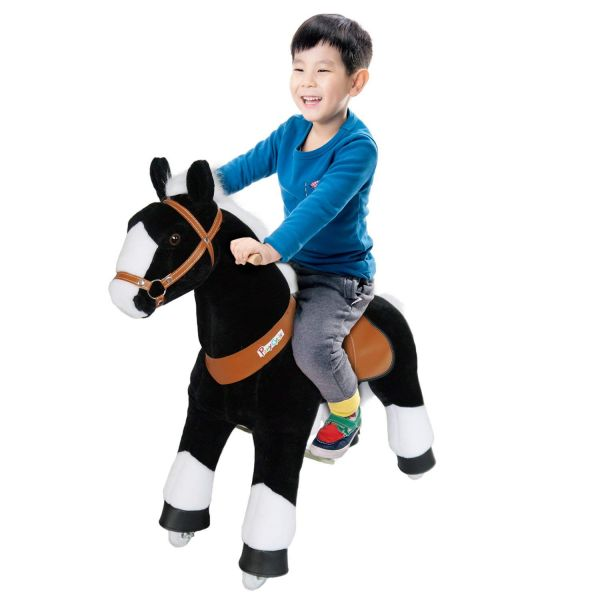 """Ponycycle Black with white Horse """"small"""""""
